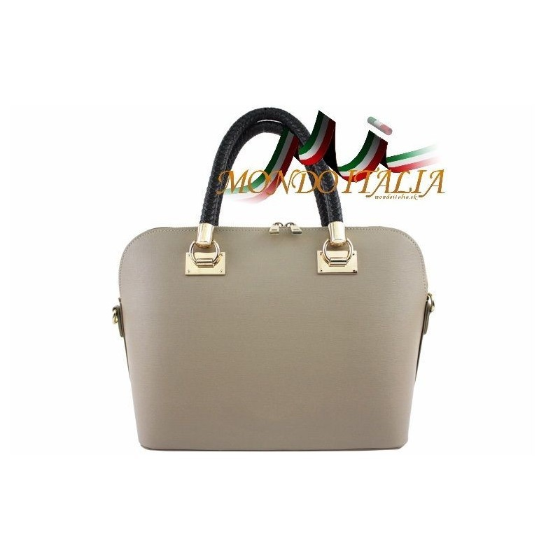 Talianska kožená kabelka do ruky 34 šedohnedá MADE IN ITALY 34 ... 764d7637f06