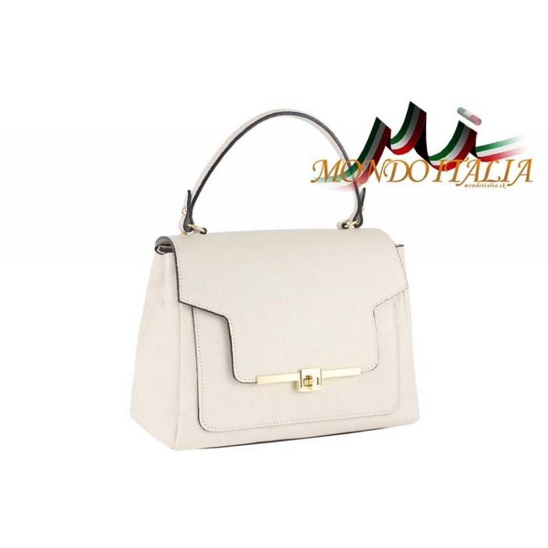 428b87509 Talianska kožená kabelka do ruky 657 béžová MADE IN ITALY ...