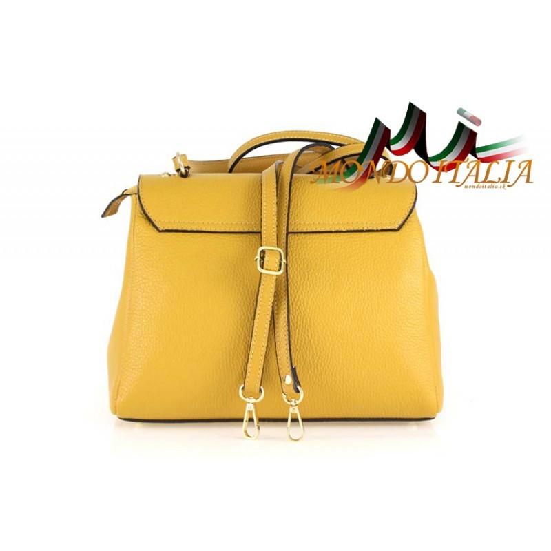 811b78b28c Talianska kožená kabelka do ruky 657 biela MADE IN ITALY - Talianske ...