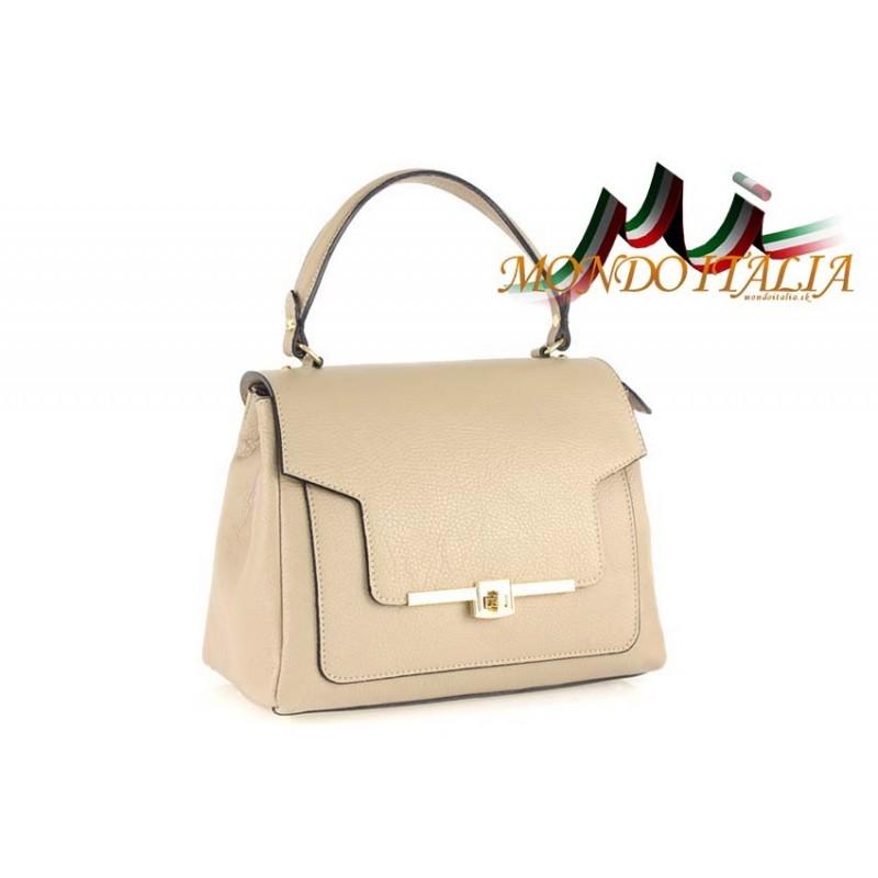 Talianska kožená kabelka do ruky 657 šedohnedá MADE IN ITALY ... 662d4020a88