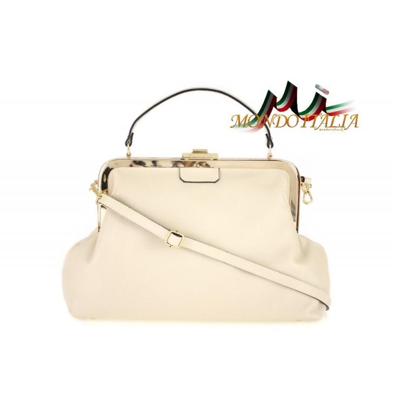 Talianska kožená kabelka do ruky 832 béžová MADE IN ITALY ... 3ff72d85b7d