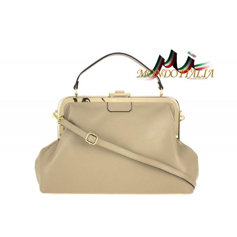 Talianska kožená kabelka do ruky 832 šedohnedá MADE IN ITALY ... ff46dae81be