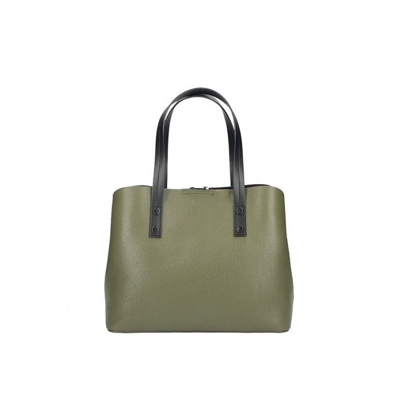Talianska kožená kabelka MILLY 5062 vojenska zelená 7c5bf405503