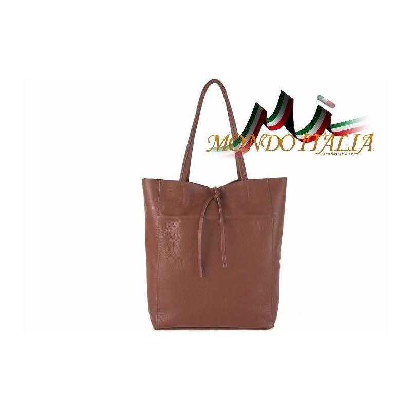 dfa2b483e4 Talianska kožená kabelka na rameno 396 hnedá MADE IN ITALY 396 ...