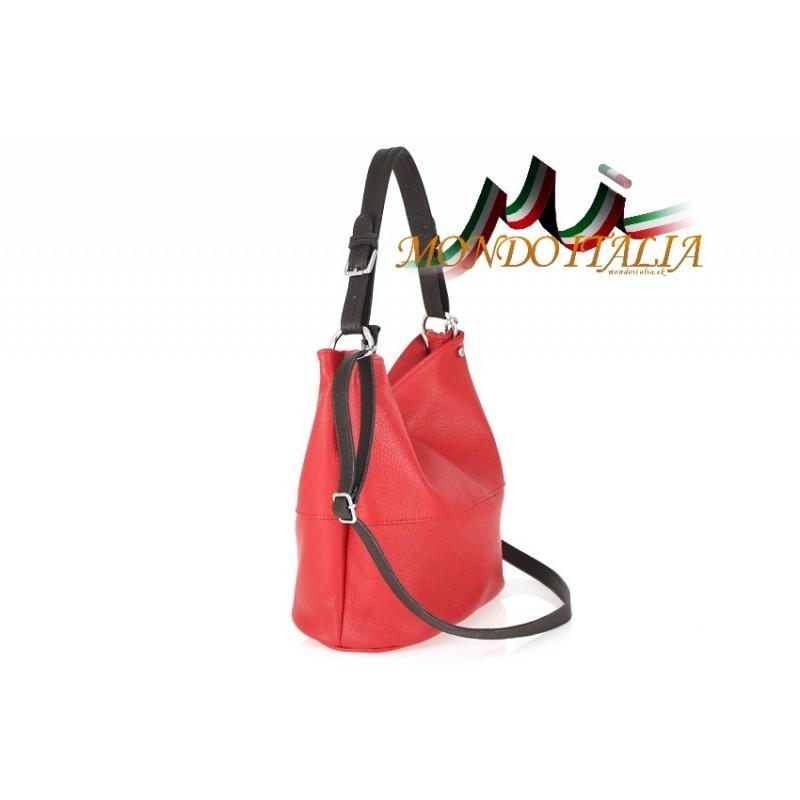 d520271bc40e Talianska kožená kabelka na rameno 631 okrová MADE IN ITALY ...