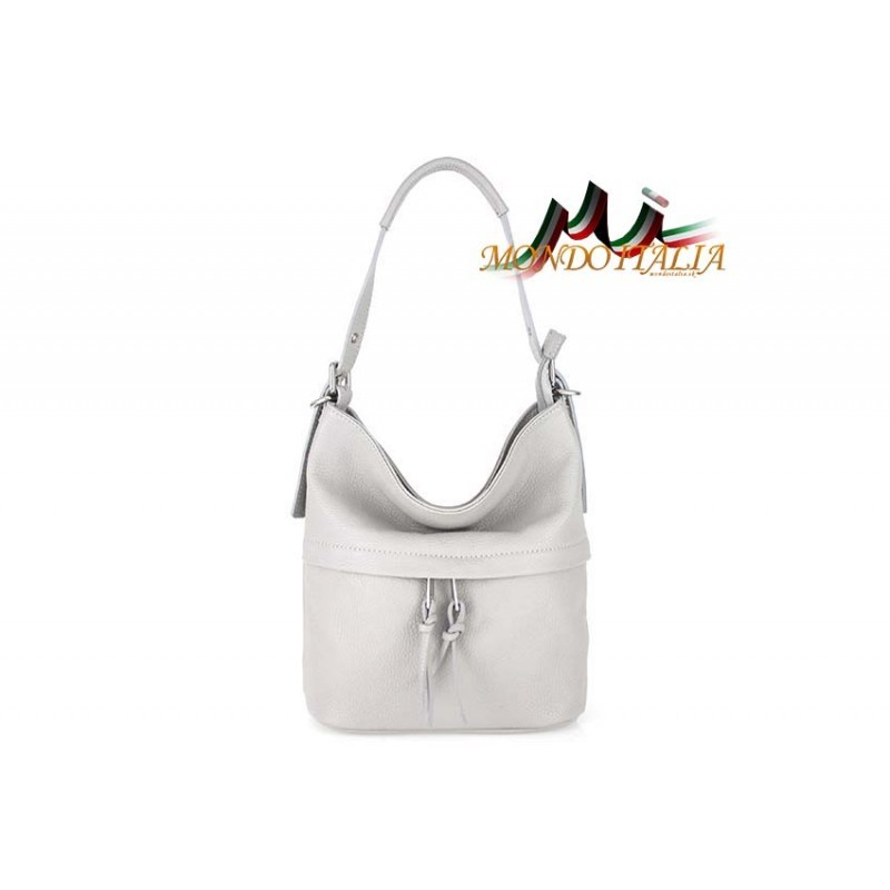 84a07194b5 Talianska kožená kabelka na rameno 715 šedá MADE IN ITALY ...
