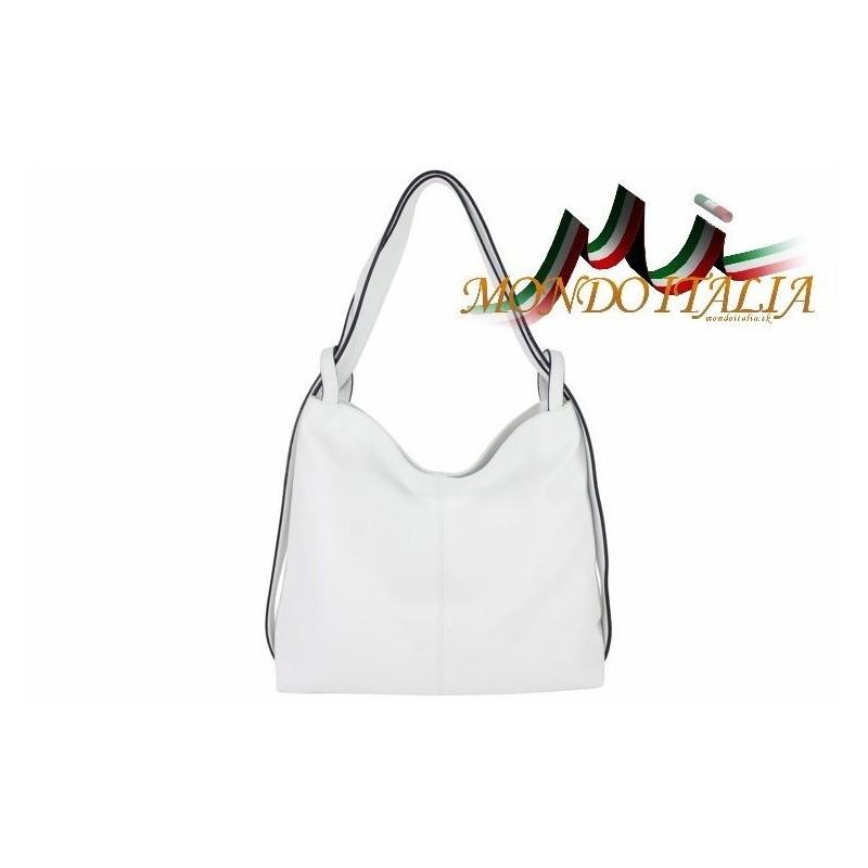 7f5dcd4c2505d Talianska kožená kabelka na rameno 9010 biela MADE IN ITALY 9010 ...