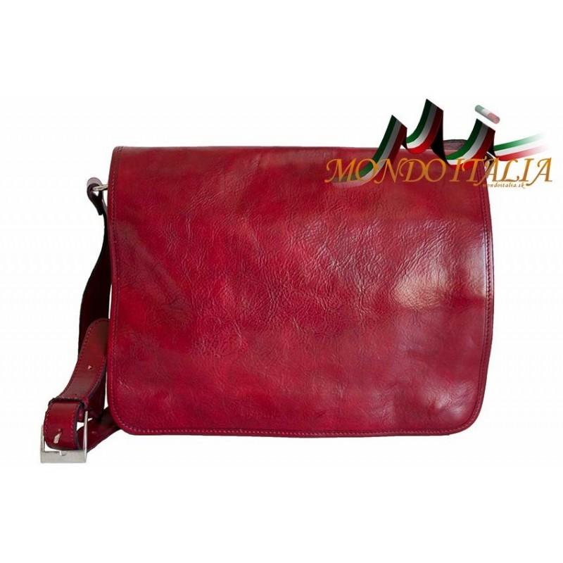 80441fa2bc Talianska pánska kožená aktovka 316 červená MADE IN