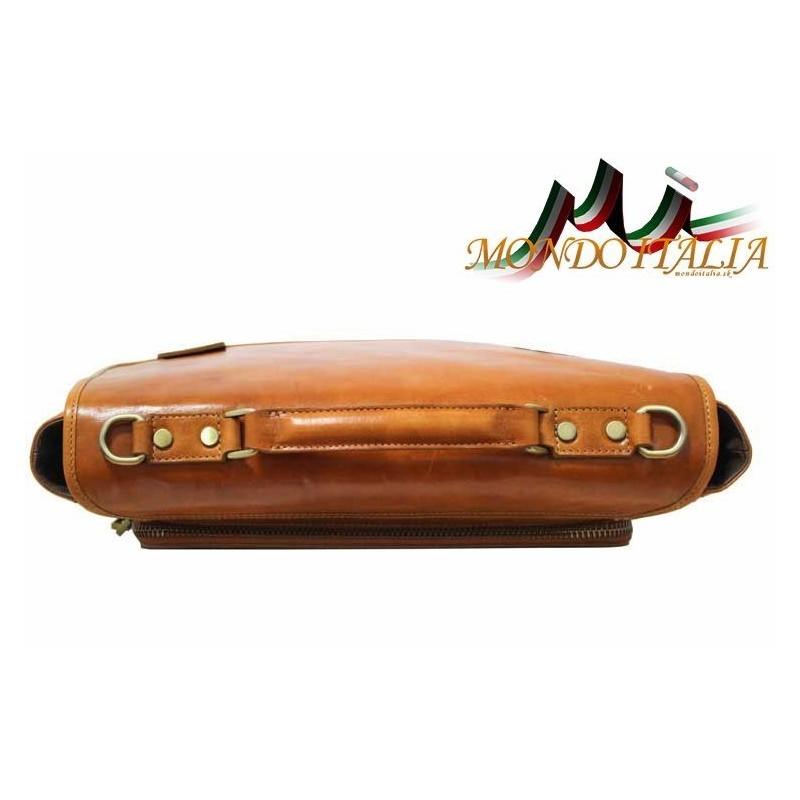 Talianska pánska kožená aktovka 7011 hnedá MADE IN ITALY 7011 ... 96851579f4b