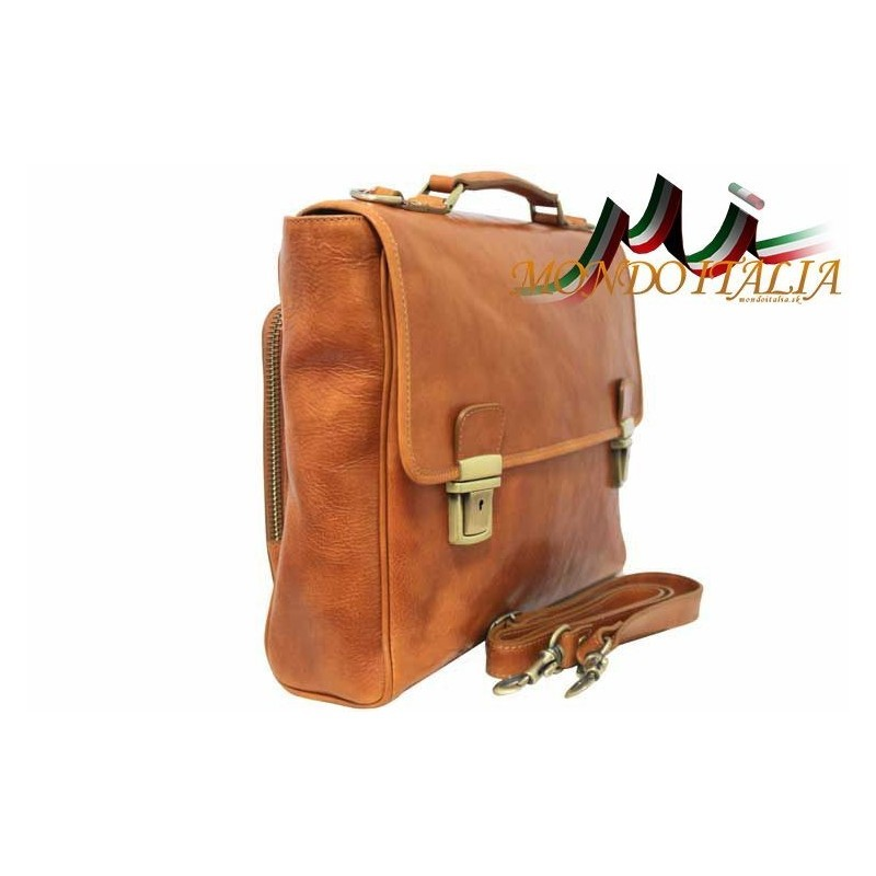 a00f9ae2b7 Talianska pánska kožená aktovka 7011 hnedá MADE IN ITALY 7011 ...