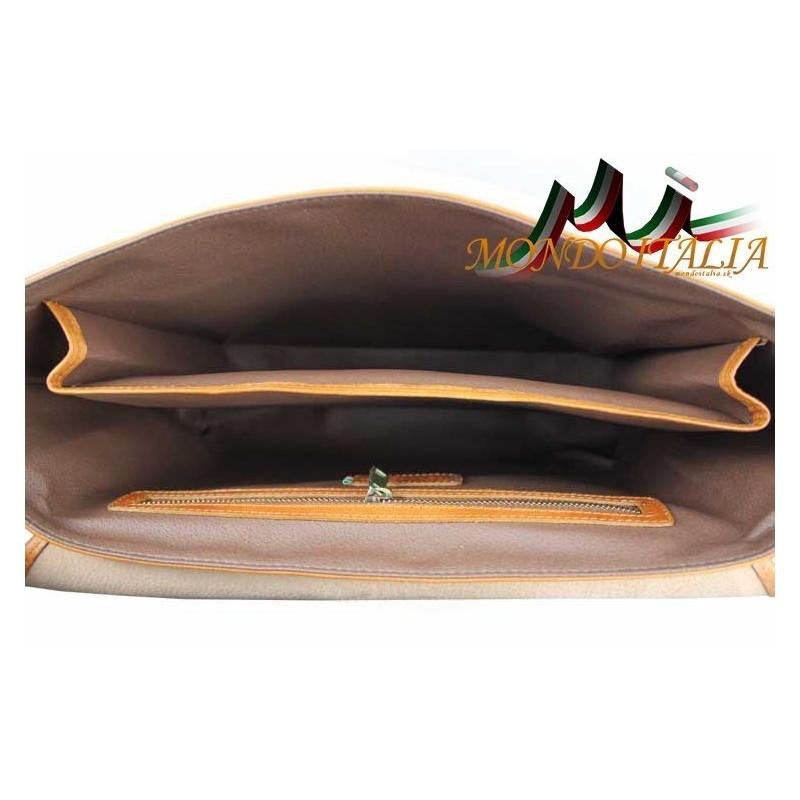 Talianska pánska kožená aktovka 7011 koňak MADE IN ITALY 7011 ... 168c9c30fe2