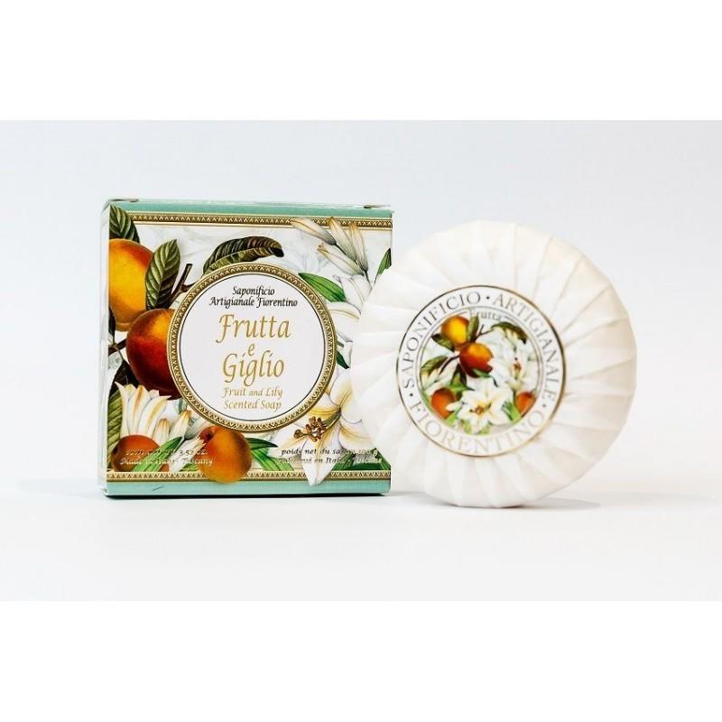 Talianske prírodné mydlo ovocie a ľalia 100 g MADE IN ITALY 1435