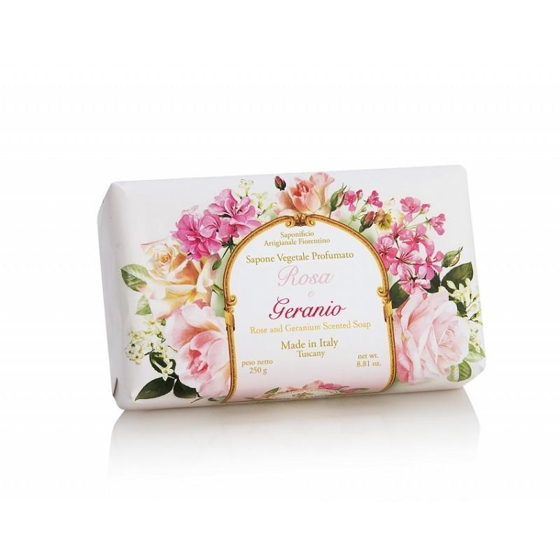 Talianske prírodné mydlo RUŽA A MUŠKÁT 250 g