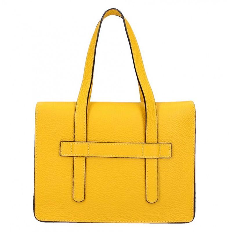 Žltá kožená kabelka Armei 5302 MADE IN ITALY, Farba žltá  5302