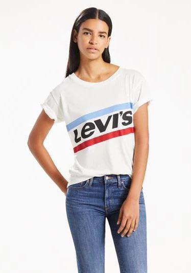 97d3f22e2bad LEVIS Dámske biele tričko s krátkym rukávom Levi´s® Graphic Boyfriend