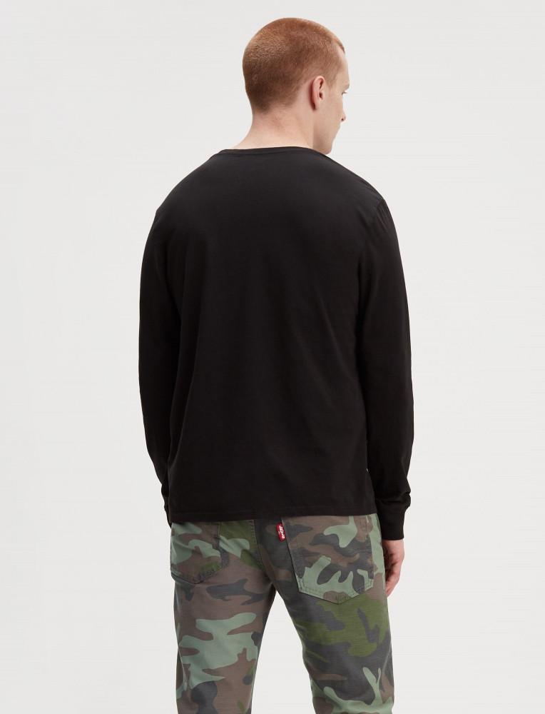 4273c916e14a LEVIS Pánske čierne tričko s dlhým rukávom Levi´s® LS Graphic ...