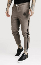 SIK SILK Pánske tepláky SikSilk Ultra Cropped Taped Tech Pants – Timber