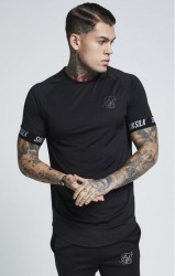 SIK SILK Pánske tričko SikSilk Tech Tee – Black