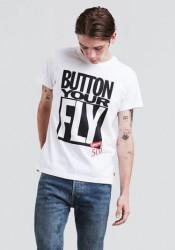 LEVIS Pánske biele tričko s krátkym rukávom Levi´s® Surfus Graphic Tee Button