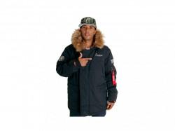Pánska zimná bundaCocaine Life Basic Parka Winter Jacket Black