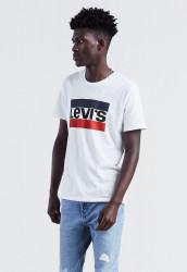 LEVIS Pánske biele tričko s krátkym rukávom Levi´s® Sportswear Logo Graphic