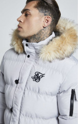 SIK SILK Pánska bunda SikSilk  Puff Parka Jacket – Grey #1