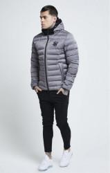 SIK SILK Pánska bunda SikSilk  Target Jacket – Grey #1