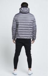 SIK SILK Pánska bunda SikSilk  Target Jacket – Grey #2