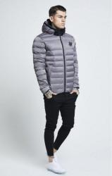 SIK SILK Pánska bunda SikSilk  Target Jacket – Grey #3