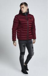 SIK SILK Pánska bunda SikSilk  Target Jacket – Burgundy #1