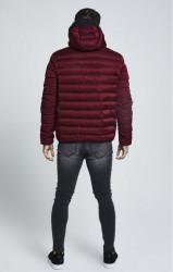 SIK SILK Pánska bunda SikSilk  Target Jacket – Burgundy #2