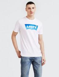 LEVIS Pánske biele tričko s krátkym rukávom Levi´s® House Mark Graphic Tee Farba: Biela,