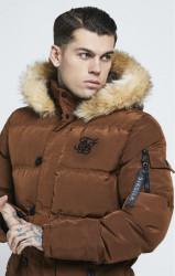 SIK SILK Pánska bunda SikSilk  Puff Parka Jacket – Biscuit Brown