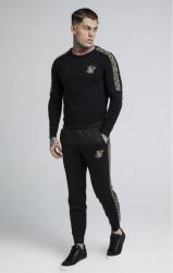 SIK SILK Pánske tričko s dlhým rukávom SikSilk Cartel L/S Gym Tee – Black #1