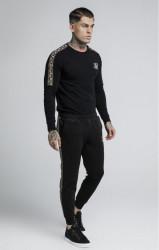 SIK SILK Pánske tričko s dlhým rukávom SikSilk Cartel L/S Gym Tee – Black #3