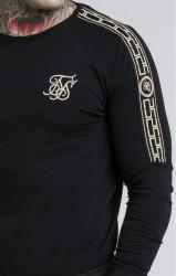 SIK SILK Pánske tričko s dlhým rukávom SikSilk Cartel L/S Gym Tee – Black #4