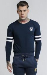 SIK SILK Pánske tričko s dlhým rukávom SikSilk L/S Tournament Tee – Navy