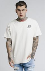 SIK SILK Pánske tričko SikSilk S/S Reverse Collar Tee – Ecru