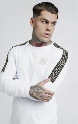 SIK SILK Pánske tričko s dlhým rukávom SikSilk Cartel L/S Gym Tee – White