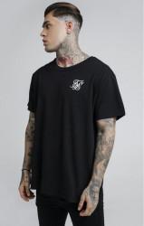 SIK SILK Pánske tričko SikSilk S/S Reverse Collar Tee – Black #1