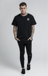 SIK SILK Pánske tričko SikSilk S/S Reverse Collar Tee – Black #2