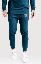 SIK SILK Pánske tepláky SikSilk Zonal Track Pants – Cobalt Blue & Gold