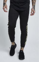 SIK SILK Pánske tepláky SikSilk Poly Tricot Cropped Pants – Black & Gold