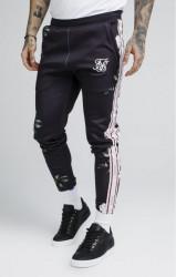 SIK SILK Pánske tepláky SikSilk Oil Paint Poly Tricot Cropped Pants – Black