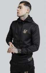 SIK SILK Pánska mikina SikSilk Cartel Agility Zip Through Track Top – Black
