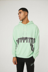 Pánska mikina THE COUTURE CLUB Varsity Print Oth Green Oversized