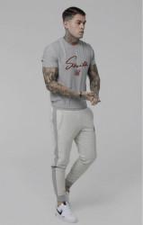 SIK SILK Pánske tepláky SikSilk Heavy Reverse Joggers – Grey Marl #5