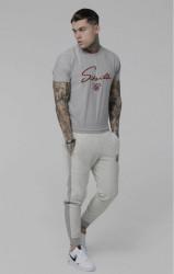SIK SILK Pánske tepláky SikSilk Heavy Reverse Joggers – Grey Marl #6