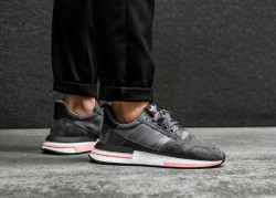 ADIDAS ORIGINALS Pánske tenisky ADIDAS ZX 500 RM GREY, WHITE & CLEAR ORANGE
