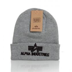 Alpha Industries 3D Beanie Grey - UNI